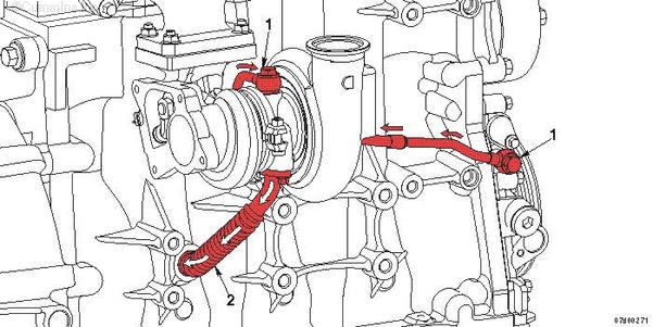 схема смазки турбокомпрессора